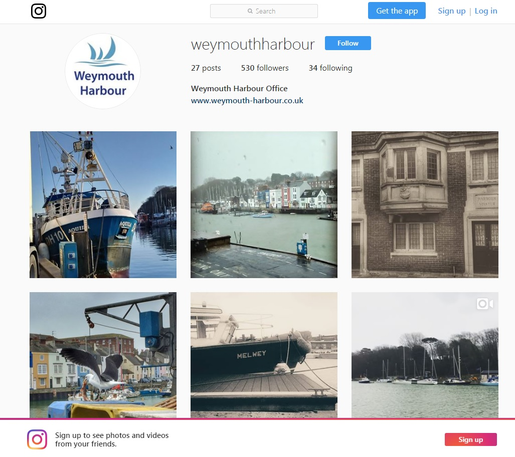 Weymouth Harbour Instagram
