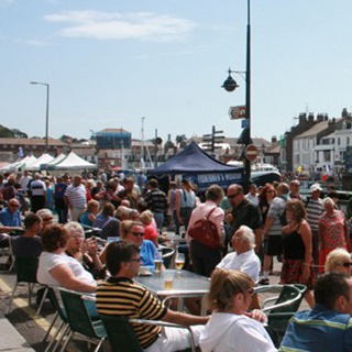 Annual seafood festival in Weymouth Harbour