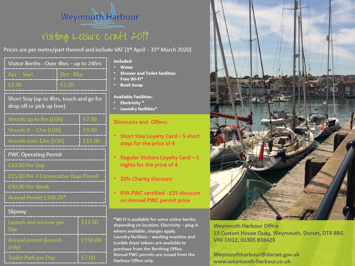 2019 Visitor Berthing Fees
