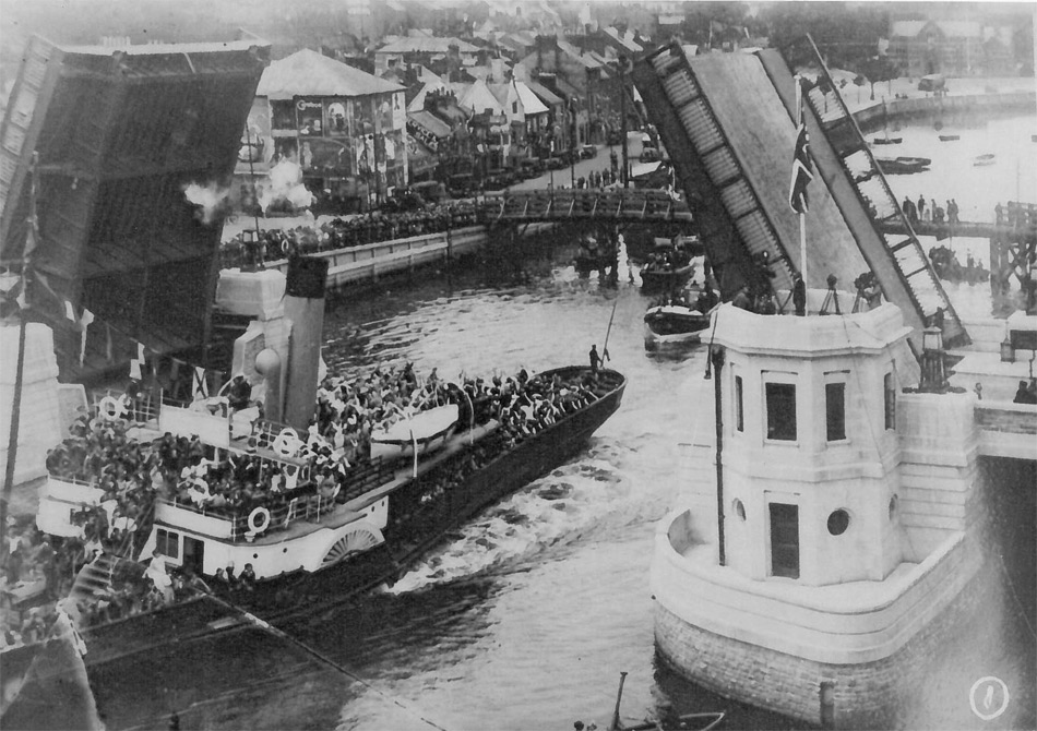 Weymouth Town Bridge Opening 1930