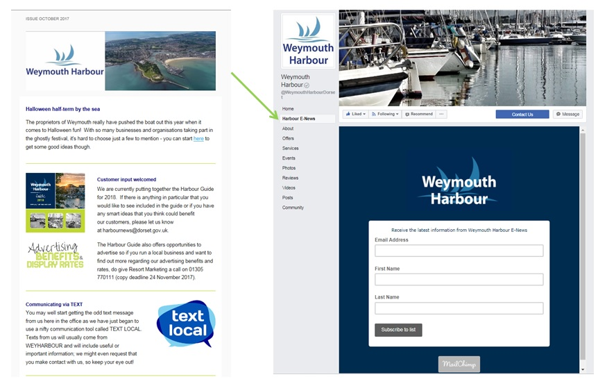 Weymouth Harbour E-News