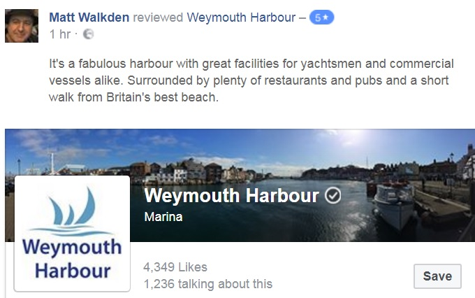 Review of Weymouth Harbour